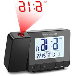 SMARTRO Digital Projection Alarm Clock with Indoor Thermomet