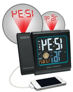 "La Crosse Technology 5"" Color LCD Projection Alarm Clock wit"