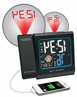 "La Crosse Technology 5"" Color LCD Projection Alarm Clock wit"
