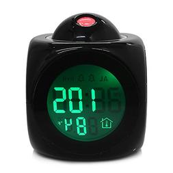 FunnyToday365 Lcd Digital Projection Alarm Clock Desktop Tab
