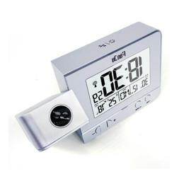 Alarm Clock LED Projection Digital Snooze Time Temperature