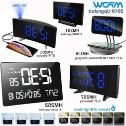 Mpow Projection Alarm Clock FM Radio 12/24 Hour SNOOZE Funct