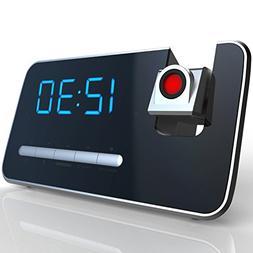 Projection Alarm Clock With AM/FM Radio By Superior Essentia