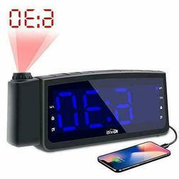 Projection Alarm Clock Radio - Koviti FM Radio Alarm Clock w