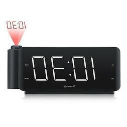 DreamSky Projection Alarm Clock Radio with USB Charging Port