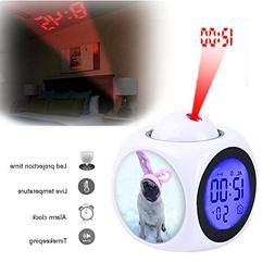 projection alarm clock wake bedroom