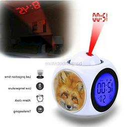 Girlsight Projection Alarm Clock Wake Up Bedroom with Data a