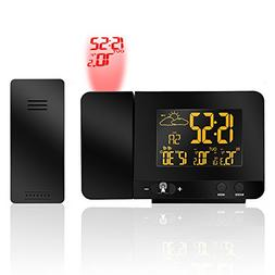 ProXenon Projection Alarm Clock Weather Forecast with USB Ch