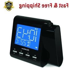 Projection Alarm Clock with AM FM Radio Battery Backup Auto