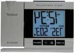 Projection Alarm Clock With Wireless  Indoor Outdoor Tempera
