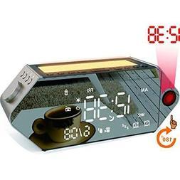 Projection Alarm Clocks, Sunrise Simulator Clock, FM Radio,