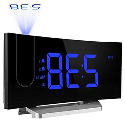 TOPELEK Projection Clock , Digital Alarm Clock with 4 Alarm