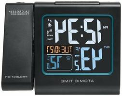 Alarm Clock Projection Color LCD With Outdoor temperature An