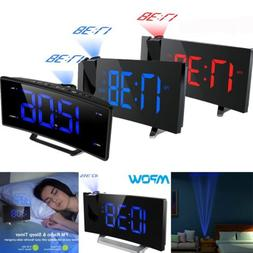 Projector Projection Digital Time Weather Snooze Alarm Clock