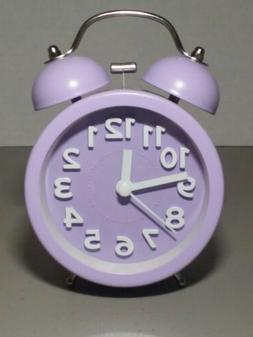 "PiLife Purple 3"" Twin Bell Alarm Clock, Vintage Analog Style"