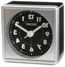 Seiko QHE083SLH Bedside Alarm Clock Black