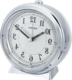 Seiko Plastic Alarm Clock, Color:Silver-Toned