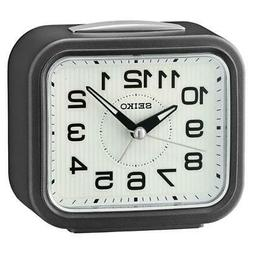 Seiko QHK050N Bell Analog Bedside Alarm Clock with Snooze -