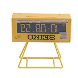 Seiko QHL062Y Digital Alarm Clock Yellow