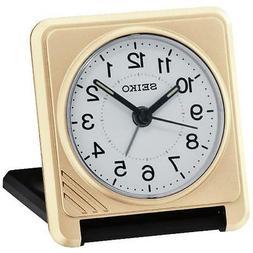 Seiko QHT015G Superior Travel Alarm Clock with Lumibrite Han