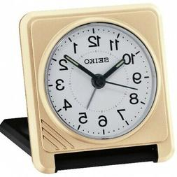 Seiko QHT015G Travel Alarm Clock Gold