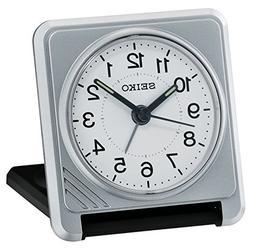 Seiko QHT015S Travel Alarm Clock, Silver