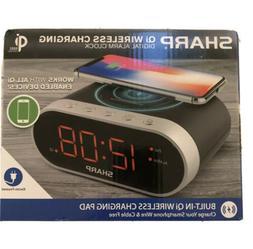 Sharp Qi WIRELESS CHARGING DIGITAL ALARM CLOCK Certified Pad