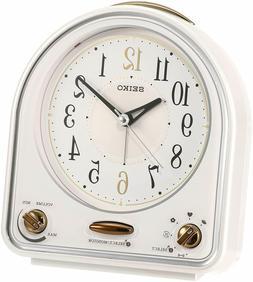 Seiko Clock QM747W 31-Melody Quartz Alarm Clock