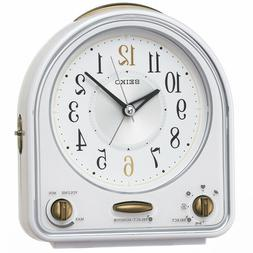 QM747W Official SEIKO Alarm clock watch / Melody alarm sound