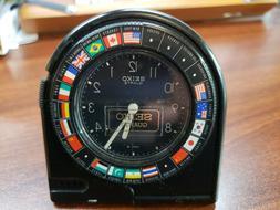 SEIKO QQQ303K World Travel Alarm Clock Used