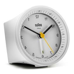Braun Quartz Alarm Clock White BNC007