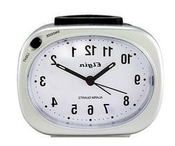 Elgin Quartz Analog Alarm Clocks