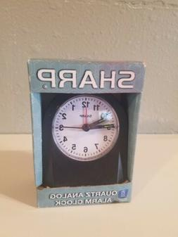Sharp Quartz Analog Black Ascending Alarm Clock Battery Oper
