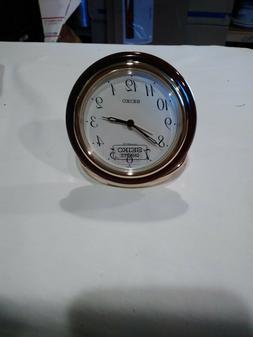 "Seiko Quartz Travel Alarm Clock 3"" diameter  QQQ178R bin 112"