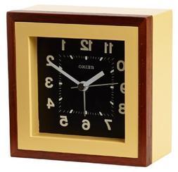 Seiko QXE047YLH Japanese Quartz Alarm Clock