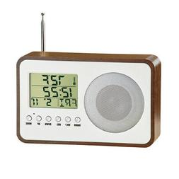 Collections Etc Radio Alarm Clock with Temperature and Calen