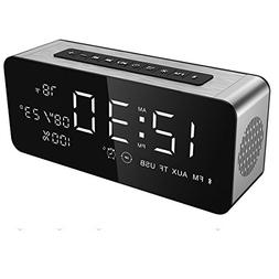 Soundance Alarm Clock FM Radio Wireless Speaker with USB Por