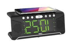 NAXA Electronics NRC-190 Dual Alarm Clock with Qi Wireless C