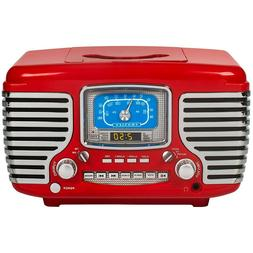 Clock Radio Bluetooth Retro AM/FM Dual Alarm with CD Player