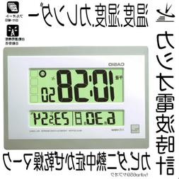 Casio Radio clock Hanging clock White Silver Limited ed. Dig