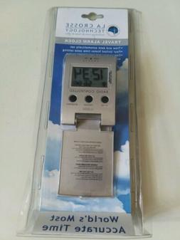 La Crosse Technology Radio Controlled Travel Alarm Clock new