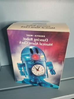 """RARE Sharper Image Dancing Robot Musical Alarm Clock, 6.5"""" K"""