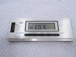 Rare Vintage Casio PQ-10 Pocket Quartz Travel Alarm Clock /
