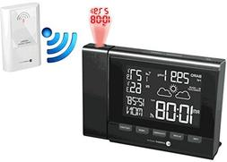 Ambient Weather RC-8401 Projection Clock with Forecast, Baro
