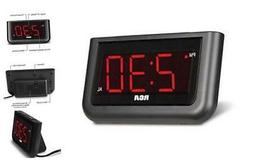 "RCA Digital Alarm Clock - Large 1.4"" LED Display with Bright"