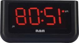 RCA RCD30 Digital Alarm Clock with 1.4-inch Display - Black