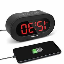 REACHER Small LED Digital Alarm Clock with Simple Operation