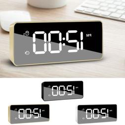 Rechargeable USB Alarm Clock Large Digital LED Display Porta