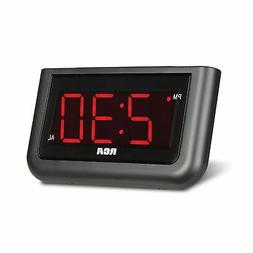 Extra Large Red LED Digital Display Electric Alarm Clock Bat