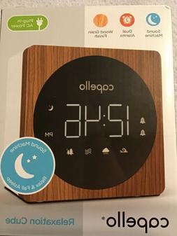 Capello Relaxation Cube - Dual Alarm Clock & Sound Machine -